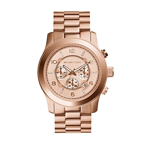 Michael Kors MK8096 Men's Runway Rose Gold-Tone Stainless Steel Watch