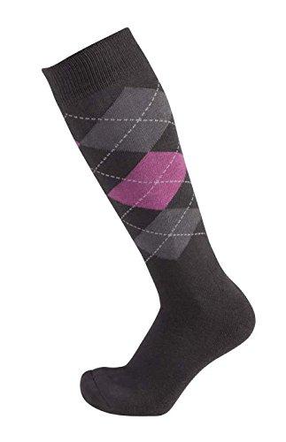 PFIFF 100322 Socke, anthrazit-Grau-pink, 34-36