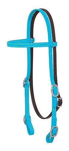Weaver Leather Brahma Webb Browband Headstall Hurricane Blue, Horse
