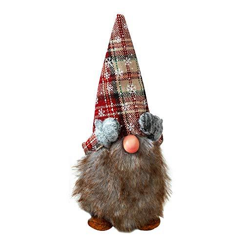 BLEVET Navidad Sueco Sueco Gnomo Santa Claus Decoración navideña Regalos Festivos MZ100 (Grey)
