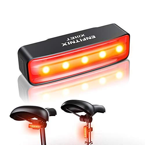 MEIDI Luces Bicicleta,Inteligente luz Trasera Bicicleta Potente led Xlite IPX5 Impermeable,detección de Freno, Encendido/Apagado automático,USB Recargable,luz Bici