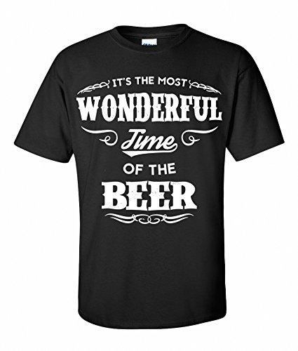 Beerdrinkers Most Wonderful time of The Beer Bier T-Shirt Schwarz S-XXXL (S)