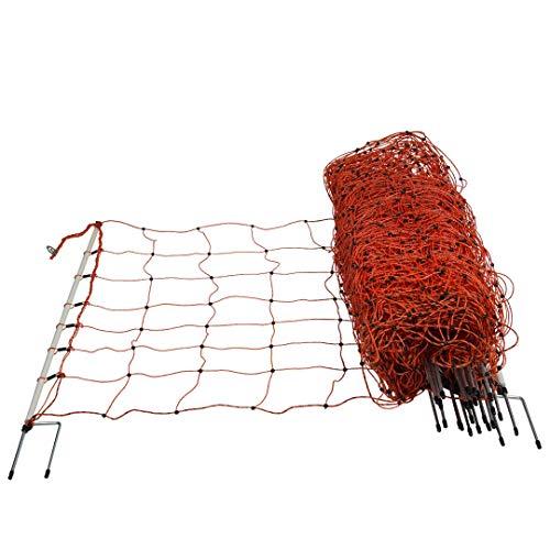 horizont Schafnetz, Elektronetz - Höhe 90cm, Länge 50m - Doppelspitze - Schafzaun, Weidezaun, Elektrozaun, Ziegenzaun - perfekt für den Schutz Ihrer Schafe