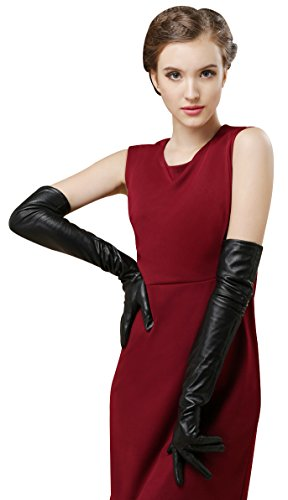 Bellady Womens Winter Opera Long Evening Dress Texting Touchscreen Leather Gloves, Black, One Size
