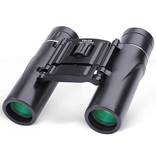 Prismáticos Profesionales Pequeño,10 x 25 HD Binoculares de largo alcance prismaticos caza...