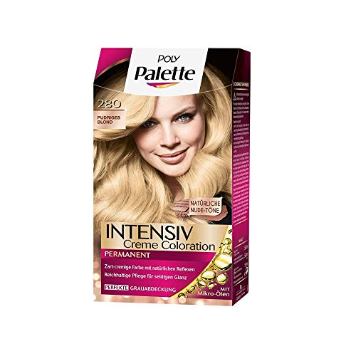 Poly Palette Intensiv Creme Coloration, 280 pudriges blond stufe 3, 3er Pack (3 x 1 Stück)