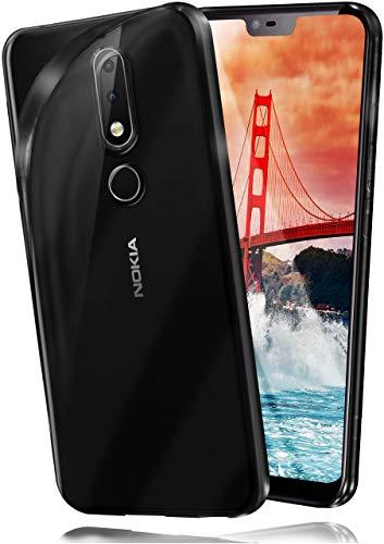 moex Aero Hülle kompatibel mit Nokia 6.1 Plus - Hülle aus Silikon, komplett transparent, Klarsicht Handy Schutzhülle Ultra dünn, Handyhülle durchsichtig einfarbig, Klar