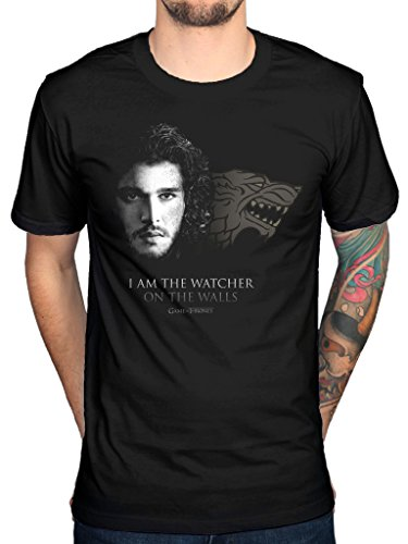 Official Game Of Thrones Watcher On The Walls T-Shirt TV Series Mother Of Dragons