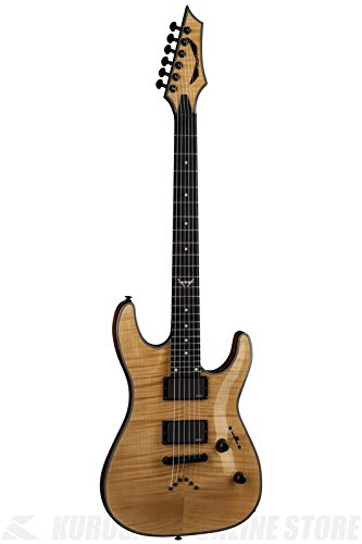 Dean C450 FM GN Custom 450 Flame Top Electric Guitar with EMG, Gloss Natural