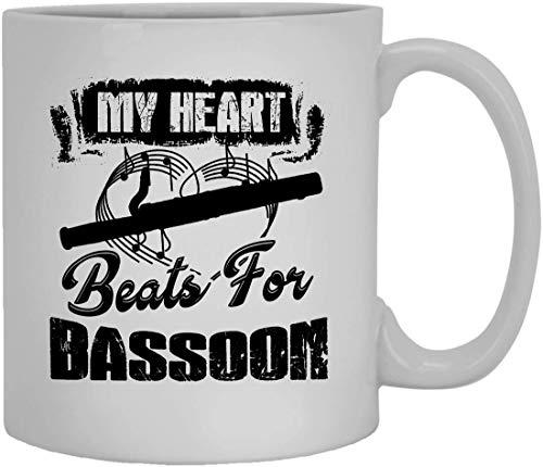 Mis golpes de corazón para la taza Fagot Copa taza de café helado 11 onzas