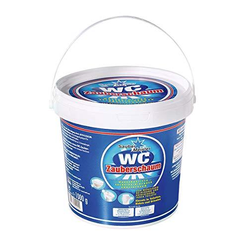 WC Reiniger Schaum | Kraftvoller Kalkentferner & Urinsteinlöser | WC Pulver Zauberschaum bekannt aus dem TV | WC Tabs Alternative | Idealer Kloreiniger 1000g