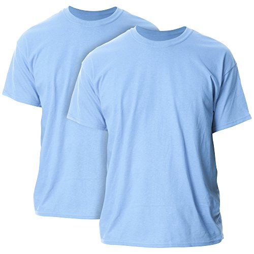 Gildan Men's G2000 Ultra Cotton Adult T-Shirt, 2-Pack, Carolina Blue, X-Large