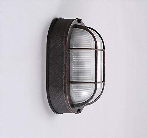 Haute Qualité Rétro Lumière Pays En Aluminium Art Personnalité Loft Industrielle Allée Bar Chevet Balcon Applique Lumière rétro chaude (Couleur : Blanc)