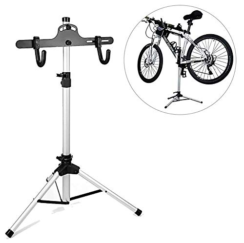 MASLEID Teleskop Fahrradhalterung, Teleskop-Fahrradständer, höhenverstellbarer Fahrradständer für Autoausstellungen, Autoreparatur