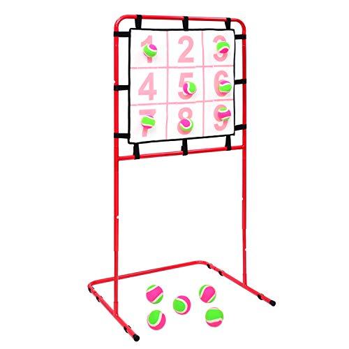 BQKOZFIN 野球 ストラックアウト 投球練習 ピッチング マジックナイン ボール12球付 投げゲーム 自主練習 くっつき抜群