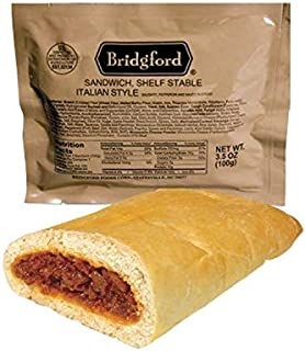Bridgford Italian Sausage MRE Survival Food Storage Ready To Eat Meals - 3 Pack