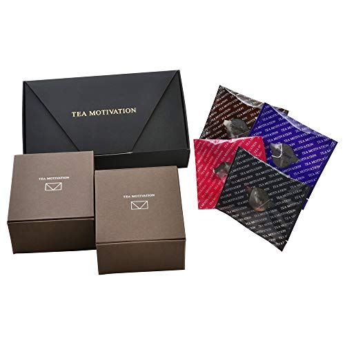 【ギフト包装・手提袋付】紅茶ギフトセット ダージリン/アッサム/アールグレイ/ももりんご ティーバッグ4種アソート22包 最高級品質 TEA MOTIVATION