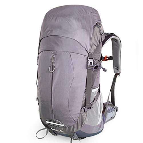 WMC Randonnée Sac à Dos, épaule Trekking Sac à Dos Sports de Plein air Répulsif Eau Grande capacité avec Housse de Pluie Sac d'alpinisme 40L,Gris