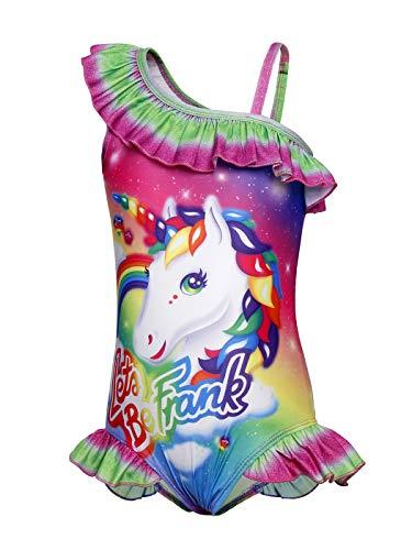 Jurebecia Ragazze Costume da Bagno Unicorno Arcobaleno Colorati Costumi da Bagno Un Pezzo Piscina Spiaggia Costume da Bagno per Bambini