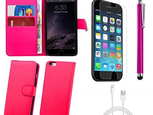 GUPi Carcasa para iPhone 5C, iPhone 5S, iPhone 5SE, 2 en 1 con imán, color rosa