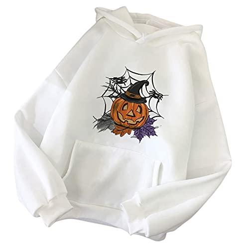 StarneA Sudadera con capucha para mujer, moda callejera, informal, estampada, sudaderas sueltas, suéter sencillo con bolsillo, para otoño e invierno