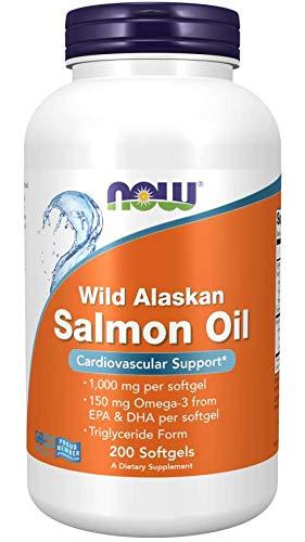 NOW Wild Alaskan Salmon Oil 1000mg 200 Softgels, 200 g