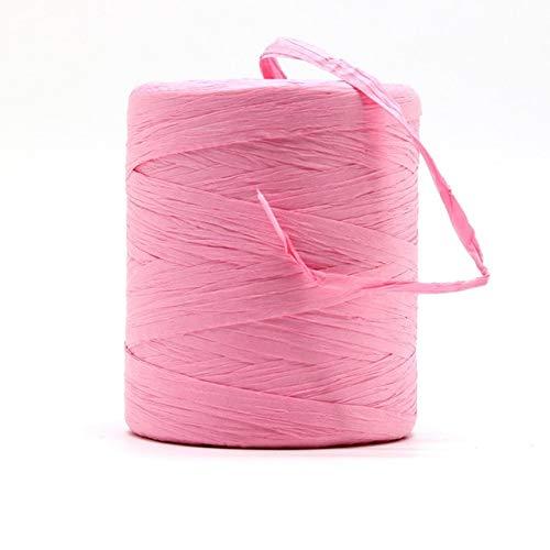 LINWX Hilo de Rafia Natural Crochet a Mano Bolso de Rafia Plegable Sombrero Moda Verano Cuerda de Cinta de Rafia para Tejer a Mano Sombreros de Paja de Rafia