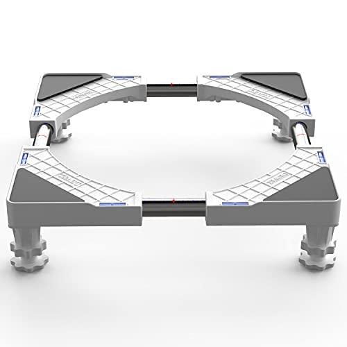 DEWEL Base Lavadora Ajustable 44.8 a 69 cm Soporta 150 kg