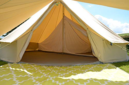 Life Under Canvas Inner for 5m Bell Tent, With divide, One Space or 2 rooms