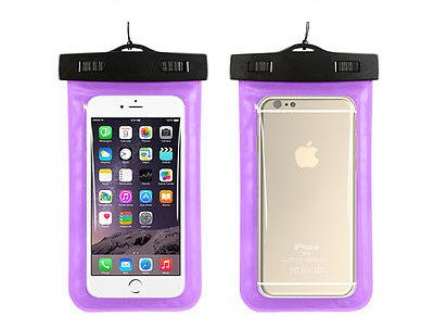 BEST SHOPPER Universal Waterproof Underwater Pouch Dry Bag Case Cover Cell Phone Swimming Bag Fits Most Mobile Phones - Purple
