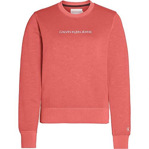 Calvin Klein Shrunken Institutional Gmd Cn Suéter, Orange, XS para Mujer