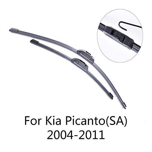 LILIGUAN voorruitenwisser voor Kia Picanto 2004 2005 2006 2007 2008 2009-2017 zacht rubber ruitenwisser voor auto