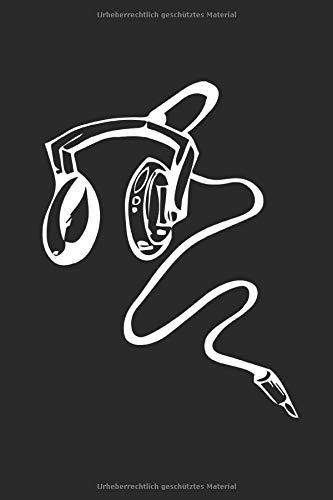 Musik: Notizbuch, A5, liniert, 120 Seiten, Musik, Sound, Kopfhörer, Techno Rock, Schlager