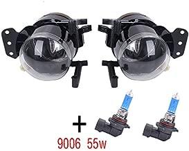 YUK Pair Front Fog Lights Lamps Housing Clear For BMW E60 E61 E63 E46 X3 325i 525i