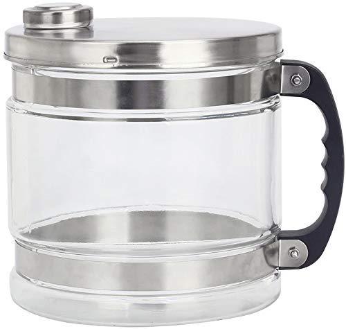 Jarra de cristal de 4 litros, con tapa de acero inoxidable, para destiladores de agua