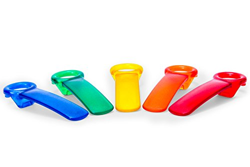 Brix The Original JarKey Worlds Easiest Jar Opener - Set of 5 Assorted Colors