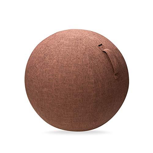 エレコム バランスボール カバー 65cm 持ち運びに便利なハンドル付き ブラウン HCF-BBC65BR