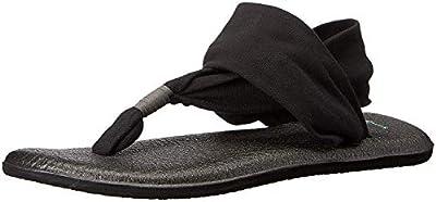 Sanuk Women's Yoga Sling 2 Sandal, Black, 9 M US