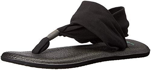 Sanuk Damen Yoga Sling#2 Zehentrenner, Schwarz (Black), 36 EU
