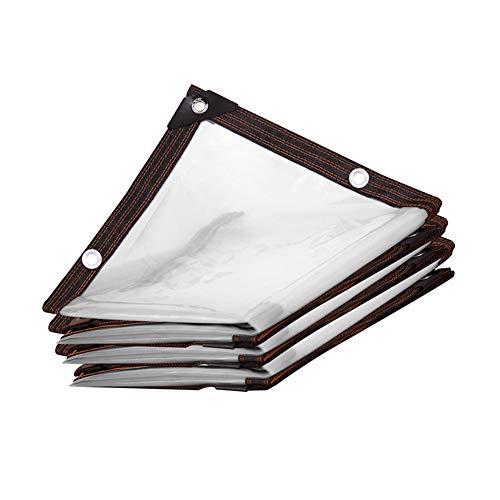 DGLIYJ Transparent Regenschutz-Tuch, Schatten Tuch Kunststoff-Folie Eindickung Dekoration Staubdichtes Tuch Sealing Fenster Winddichtes Tuch, for Fensterbank/Gewächshaus (Size : 4mx6m)