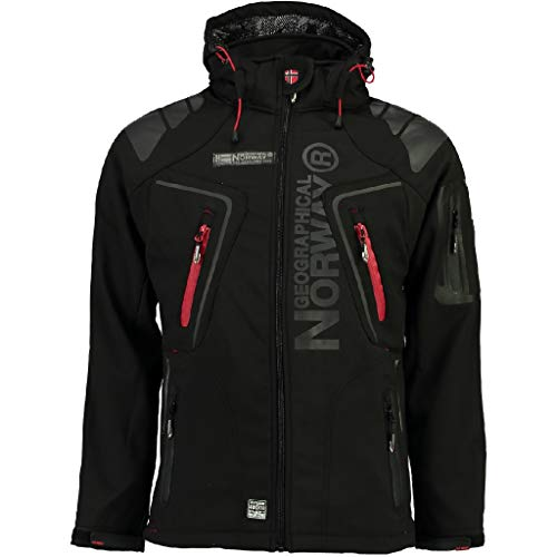 Geographical Norway Herren Softshelljacke Tambour Kapuze, Stehkragen black XL