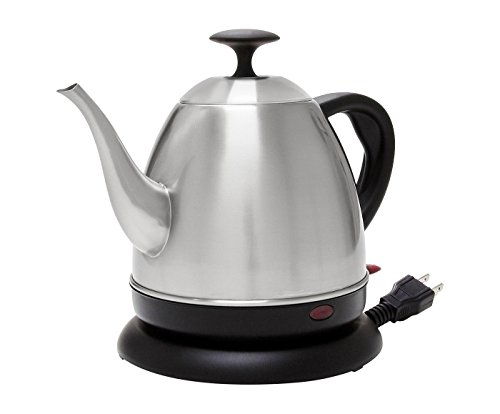 Chantal Stainless Steel Becker Ekettle - Electric Water Kettle (32 Oz.), Brushed Stainless Steel