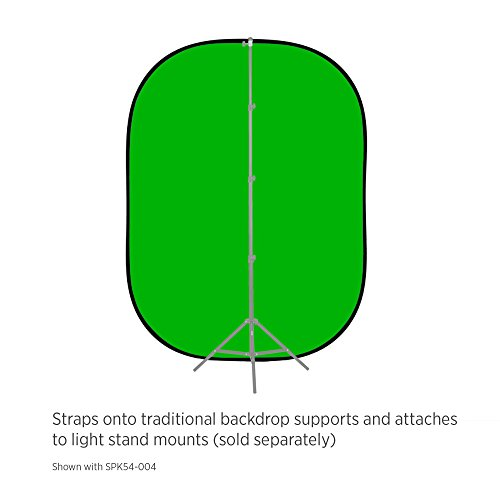 Fovitec - 5'x6.5' Green & Blue Chroma Key Double-Sided Pop-Up Collapsible Backdrop for Green Screen Video & Photo