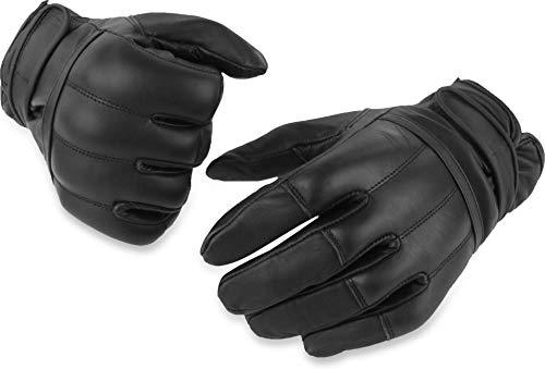 normani 1 Paar Polizei Quarzsandhandschuhe Einsatzhandschuhe aus echtem Rindsleder (XS-5XL) Größe L