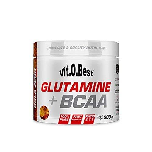 GLUTAMINE + BCAA - Suplementos Alimentación y Suplementos Deportivos - Vitobest (Cola, 500g)