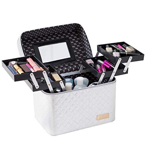 CAOO Organizador de Maquillaje de Viaje portátil, Caja de Belleza cosmética, Estuche de tocador Grande Profesional para Maquillaje, joyería de uñas, cosmética