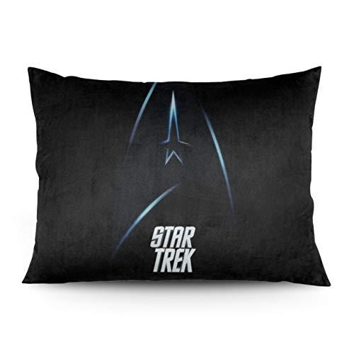 GmCslve Star Trek weicher Kissenbezug, langlebig und seidig weich, zum Dekorieren von Wohnzimmer, Sofa, Schlafzimmer, 50,8 x 66 cm, ohne Kissen