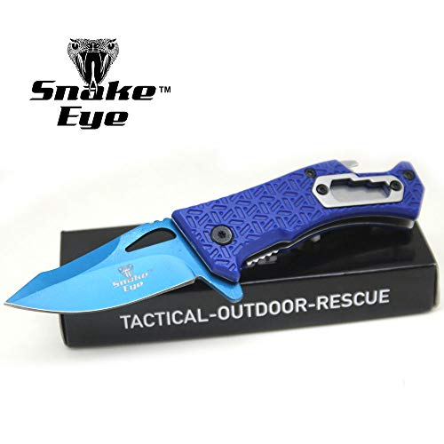 Snake Eye Tactical Every Day Carry Folding Knife | Outdoor Survival Pocket Knife | Small one-Hand Knife Made of Stainless Steel Blade (BL-BL)