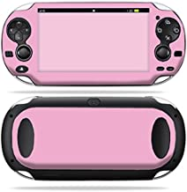 MightySkins Skin Compatible with PS Vita PSVITA Playstation Vita Portable wrap Sticker Skins Solid Pink