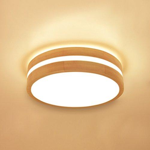 Accesorio de luz de Techo Regulable LED Techo, lámpara de Techo de Madera Japonesa, lámparas de bajo Consumo Dormitorio de Estar amueblada terraza para Cocina Baño Dormitorio Pasillo